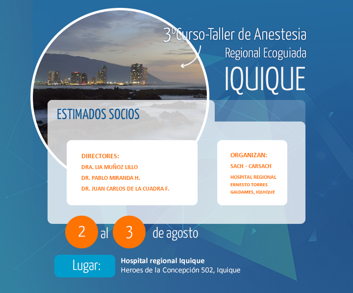 3° Curso - Taller de Anestesia Regional Ecoguiada - Anestesia ...